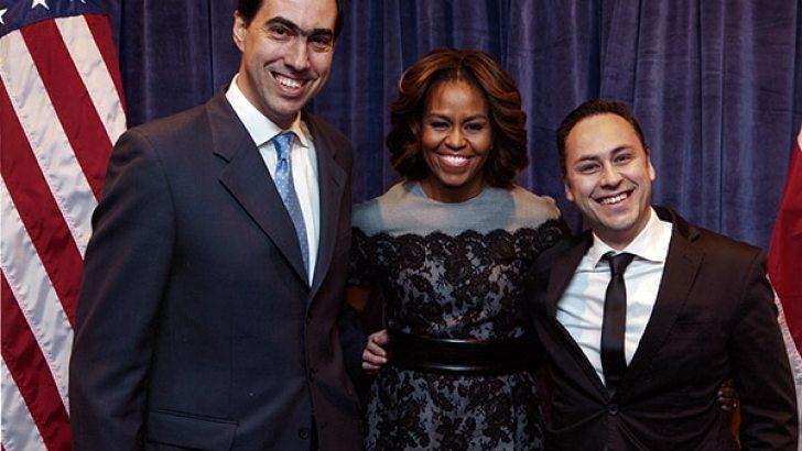 Picture Michelle Obama and Nutri Ventures (Rui Lima Miranda and Rodrigo Carvalho)