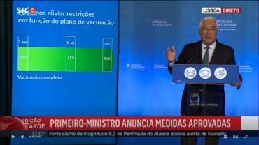 """Le Premier ministre présente les prochaines étapes vers la récupération des libertés du Portugal, scotchant les prédictions d'un """"apartheid vaccinal"""""""