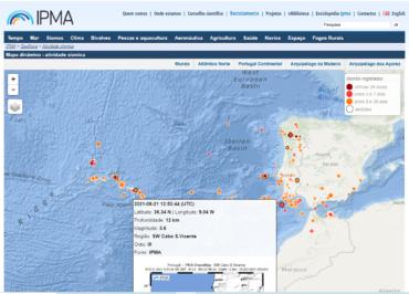 Tremblement de terre de 3,6 sur l'échelle de Richter «ressenti à Portimão»