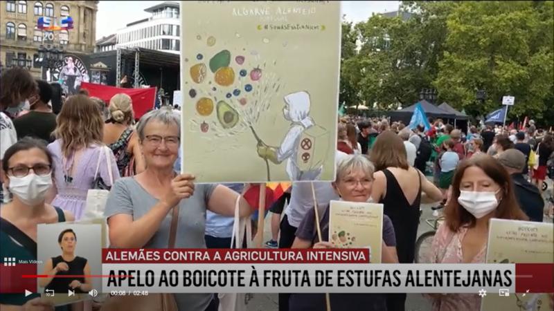 La « campagne de boycott » allemande va encore plus loin dans la honte de l'agriculture intensive d'Odemira