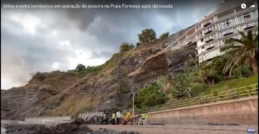 Glissement de terrain sous l'hôtel à Madère
