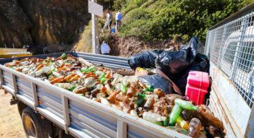 Deux tonnes de déchets collectés lors du nettoyage de la plage d'Albufeira