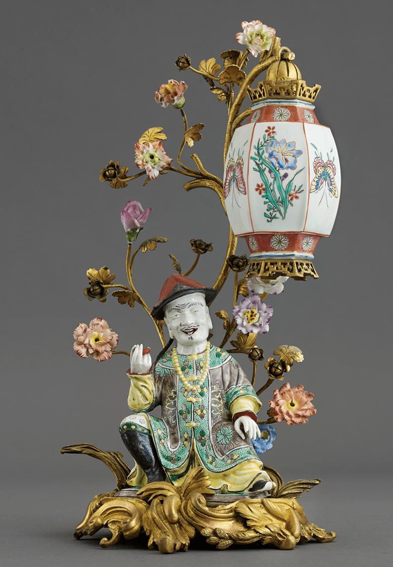 Chinois avec lanterne Porcelaine de Meissen, XVIIIè siècle