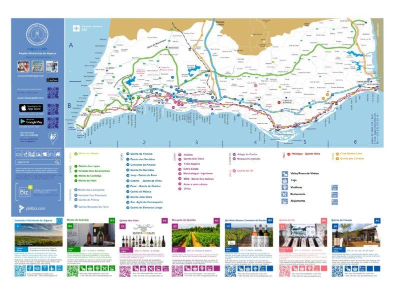 Mapa_vinhos Algarve