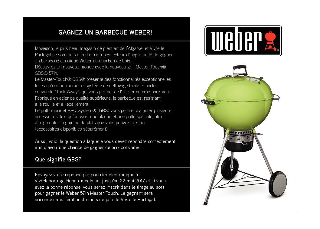 Gagnez un Barbecue Weber!