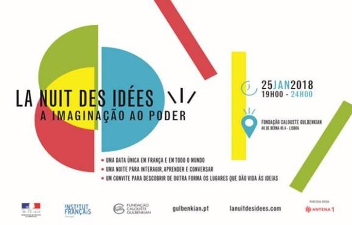 La Nuit des idées à Lisbonne – 25 janvier 2018 à la Fondation Calouste Gulbenkian, de 19h à minuit